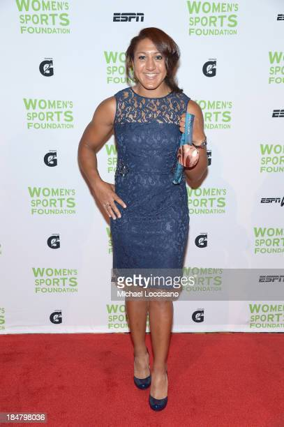 Bobsledding Olympic medalist Elana Meyers attends the 34th annual Salute to Women In Sports Awards at Cipriani Wall Street on October 16 2013 in New...