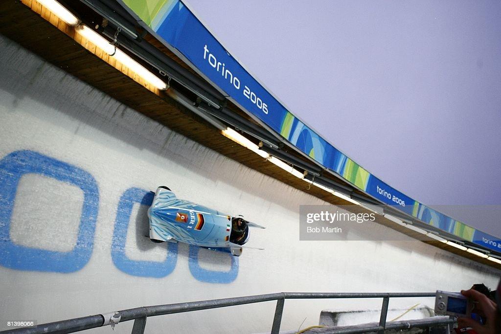 2006 Winter Olympics Germany Sandra Kiriasis And Anja Schneiderheinze 6 In Action During