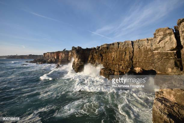 boca do inferno, hell's mouth - cascais stock photos and pictures
