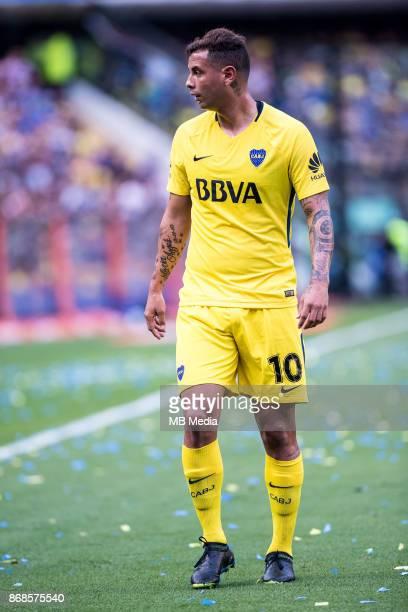 OCTOBER 29 Boca Juniors Edwin Cardona during the Superliga Argentina match between Boca Juniors and Belgrano at Estadio Alberto J Armando'n 'n