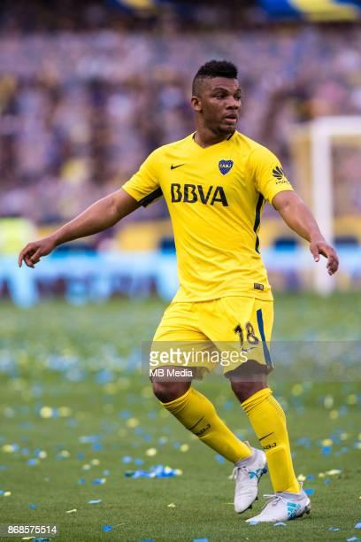 OCTOBER 29 Boca Juniors Frank Fabra during the Superliga Argentina match between Boca Juniors and Belgrano at Estadio Alberto J Armando'n 'n