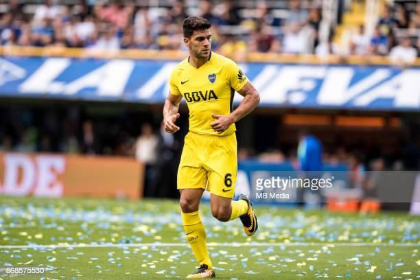 OCTOBER 29 Boca Juniors Lisandro Magallán during the Superliga Argentina match between Boca Juniors and Belgrano at Estadio Alberto J Armando'n 'n