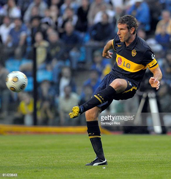 Boca Juniors' Martin Palermo in action during an Argentina´s first division soccer match on October 4 2009 in Buenos Aires Argentina