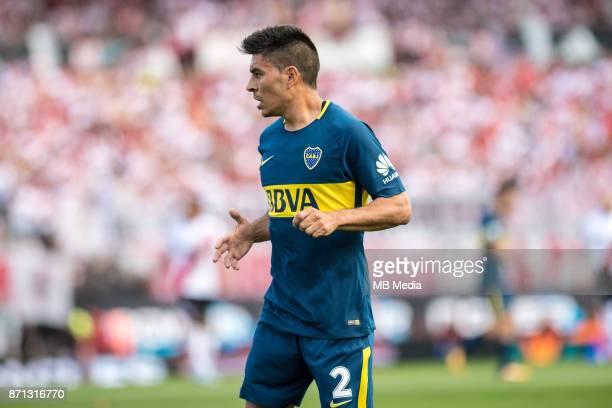 NOVEMBER 05 Boca Juniors Paolo Goltz during the superliga Argentina match between River Plate and Boca Juniors at Estadio El Monumental n