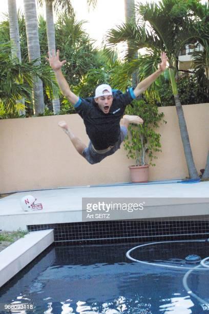 Boca Raton Florida November 18 2001 First look teen age superstar tennis pro Andy Roddick at his 2600 square foot 3 bedroom 21/2 bath tropically...