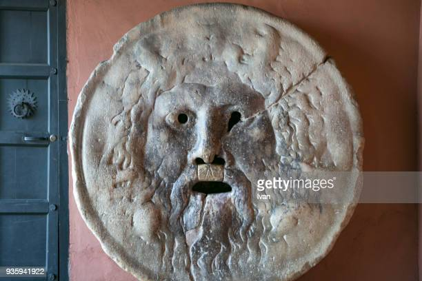 Bocca della Verita (Mouth of Truth), Santa Maria in Cosmedin church, Rome, Lazio, Italy, Europe