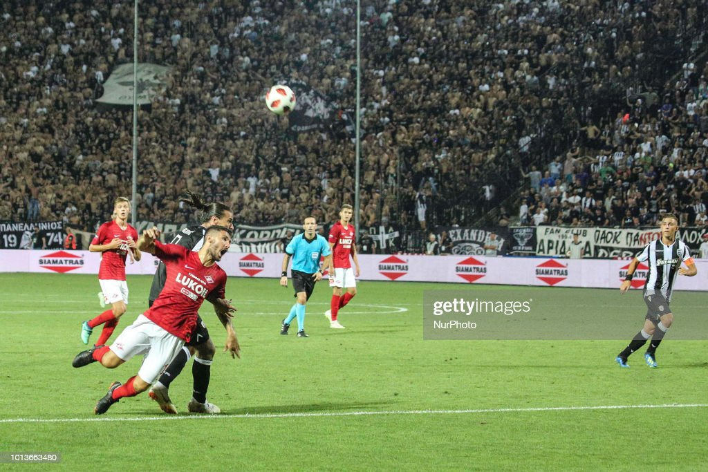 PAOK v Spartak Moscow - Champions League Third Qualifying Round : News Photo
