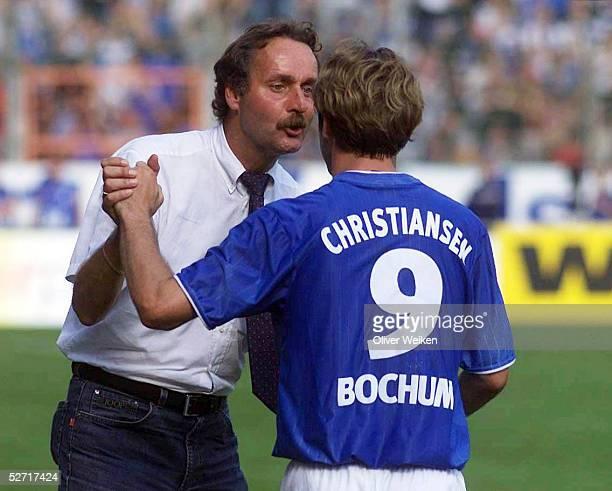 Bochum; VFL BOCHUM - FC ENERGIE COTTBUS 5:0; TRAINER Peter NAURURER, Thomas CHRISTIANSEN/BOCHUM