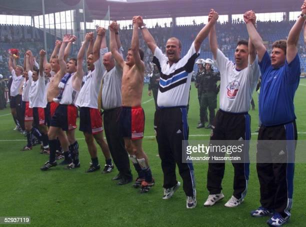 3 Schlussjubel Team Hansa Rostock