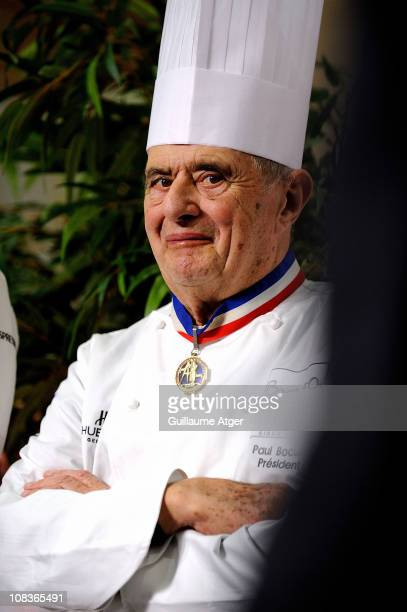 Bocuse d'Or President Paul Bocuse attends the 2011 Bocuse d'Or world final at Lyon Eurexpo on January 26 2011 in Lyon France
