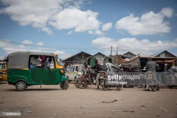 Boda boda and taxi drivers seen in the refugee camp. Dadaab is one of the largest refugee camps in the world. More than 200,000 refugees live there -...