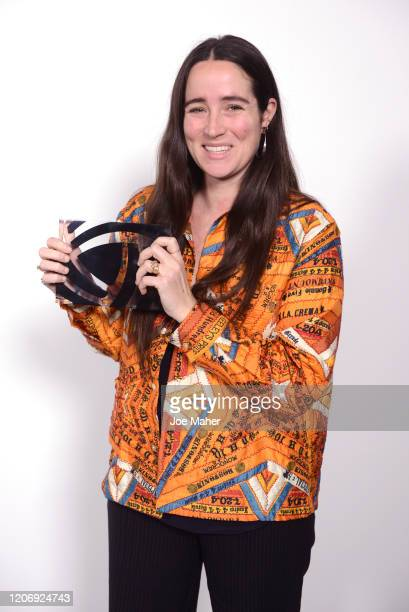 Bode designer Emily Adams Bode is presented the Karl Lagerfeld Innovation Award at the International Woolmark Prize 2020 during London Fashion Week...