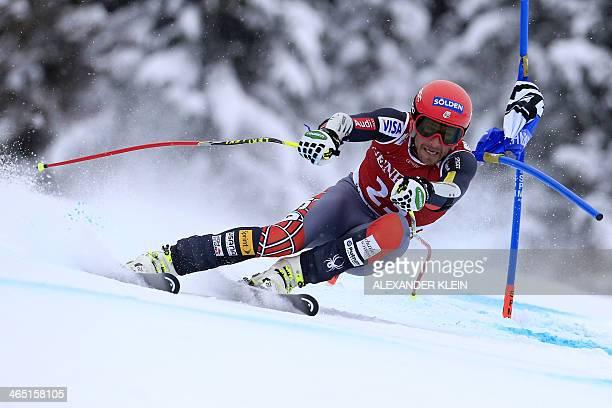 US Bode Miller competes on January 26 2014 in the FIS men's Alpine ski World Cup Super G in Kitzbuehel AFP PHOTO / ALEXANDER KLEIN