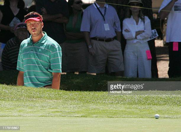 Bode Miller during American Century Celebrity Golf Championship July 16 2006 at Edgewood Tahoe Golf Course in Lake Tahoe California United States