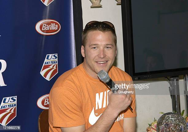 Bode Miller during Barilla and Bode Miller Media Luncheon April 8 2005 at i Trulli in New York City New York United States