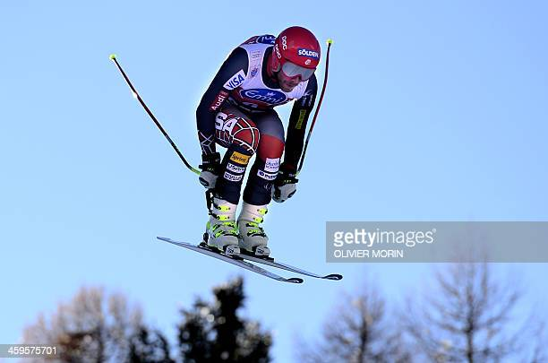 Bode Miller of the United States competes in the Alpine World Cup Men's Downhill training event on December 28 2013 in Bormio northern Italy AFP...
