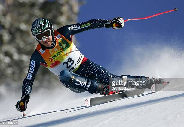 Bode Miller of the US is seen in action during the downhill portion of the FIS Alpine World Cup Mens Super Combined on Birds of Prey at Beaver Creek...