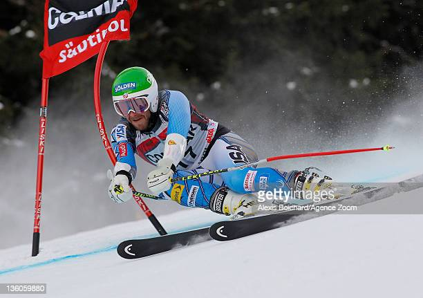 Bode Miller of the USA competes during the Audi FIS Alpine Ski World Cup Men's Giant Slalom on December 18 2011 in Alta Badia Italy