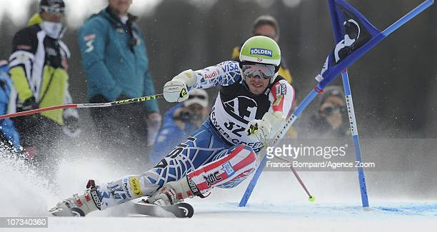 Bode Miller of the USA during the Audi FIS Alpine Ski World Cup Men's Giant Slalom on December 5, 2010 in Beaver Creek, Colorado.