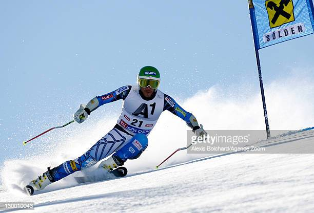 Bode Miller of the USA during the Audi FIS Alpine Ski World Cup Men's Giant Slalom on October 23 2011 in Soelden Austria