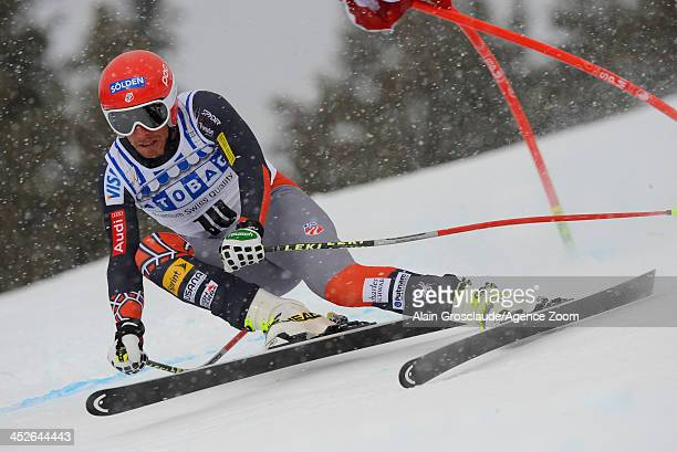 Bode Miller of the USA during the Audi FIS Alpine Ski World Cup Men's Downhill on November 30 2013 in Lake Louise Canada