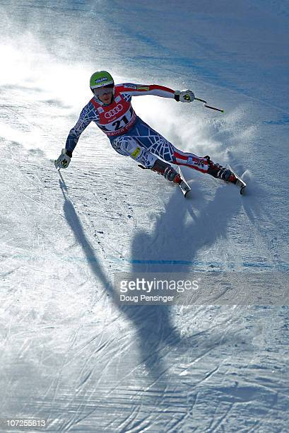 Bode Miller of the USA skis during Men's Downhill Training at the Audi FIS World Cup Bird of Prey on December 2 2010 in Beaver Creek Colorado