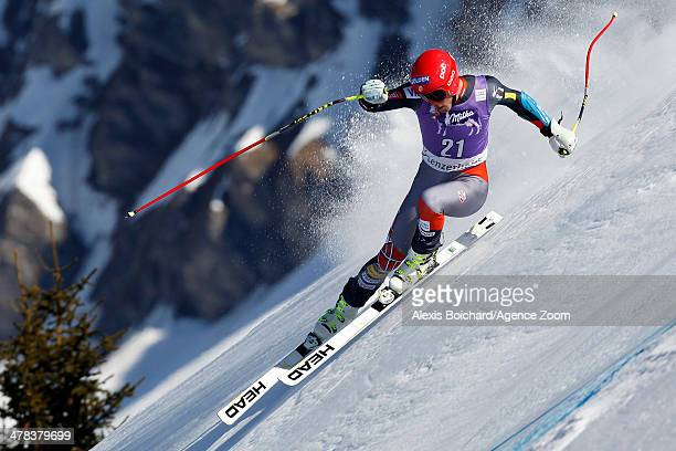 Bode Miller of the USA takes 3rd place during the Audi FIS Alpine Ski World Cup Finals Men's SuperG on March 13 2014 in Lenzerheide Switzerland
