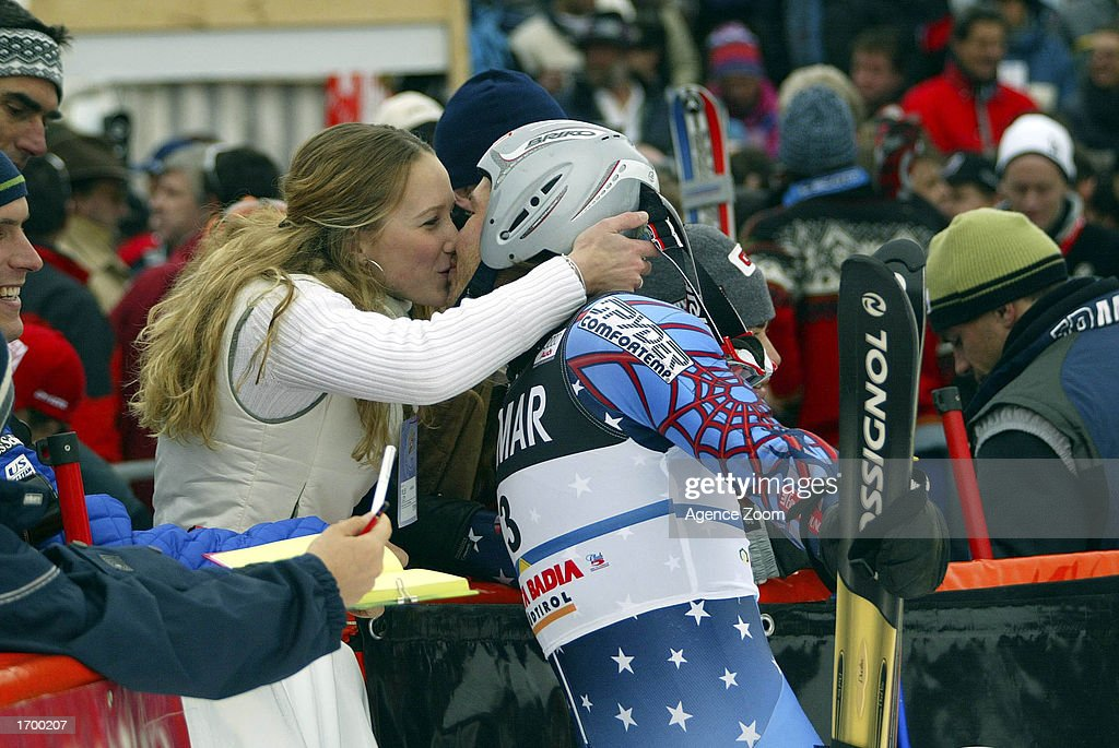 Bode Miller of the USA wins the FIS Alpine Ski World Cup 2002/2003, men's giant slalom on December 22, 2002 in Alta Badia, Italy.