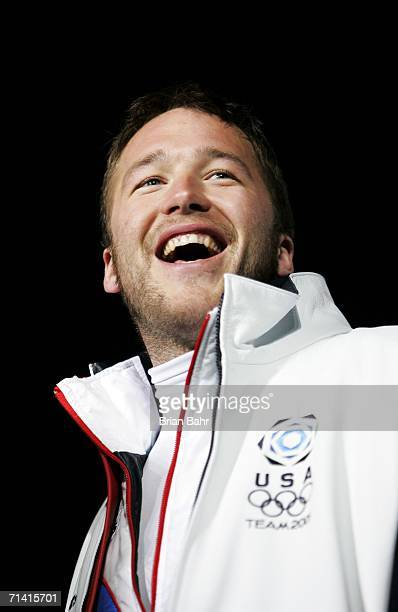 Bode Miller of United States attends the Opening Ceremony of the Turin 2006 Winter Olympic Games on February 10 2006 at the Olympic Stadium in Turin...