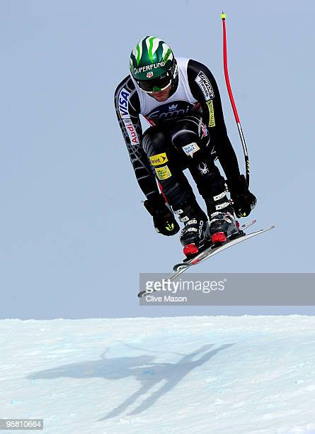 Bode Miller of USA in action during the FIS World Cup Downhill event on January 16 2010 in Wengen Switzerland
