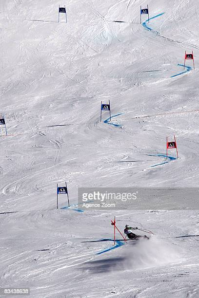 Bode Miller of Usa takes 10th Place during the Alpine FIS Ski World Cup Men's Giant Slalom on October 26 2008 in Soelden Austria