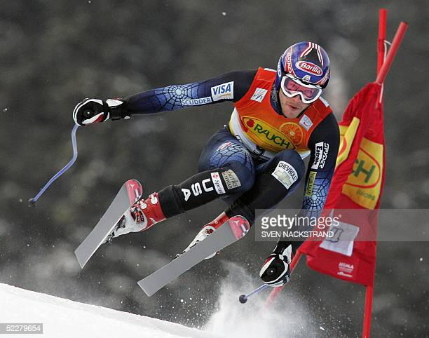 Bode Miller skies to a fourth place in the FIS World Cup Downhill in Kvitfjell, Norway 05 March 2005. Hermann Maier of Austria won the event. AFP...