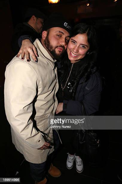 Bodega BAMZ and Laura Stylez attend the Fila And Teenage Mutant Ninja Turtle Launch Event at Hotel Chantelle on January 22 2013 in New York City