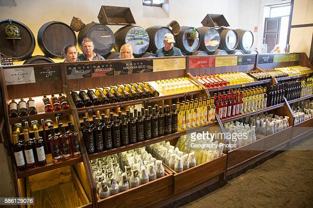 Bodega La Geria vineyard tourist attraction for sampling and buying wine, Lanzarote, Canary Islands, Spain.