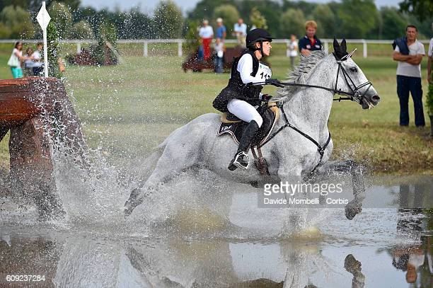 Bodenmüller Eveline CHE riding Waldmann during the CCI3* Eventing on September 17 2016 in Vidigulfo Italy