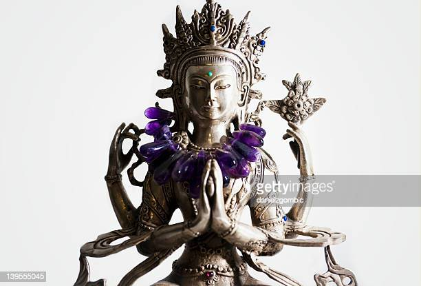 bodhisattva statue - buddhist goddess stock pictures, royalty-free photos & images