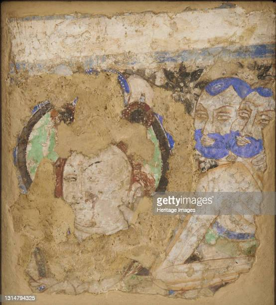 Bodhisattvas and Monks, from Cave 224, 4th-6th century. Artist Unknown.