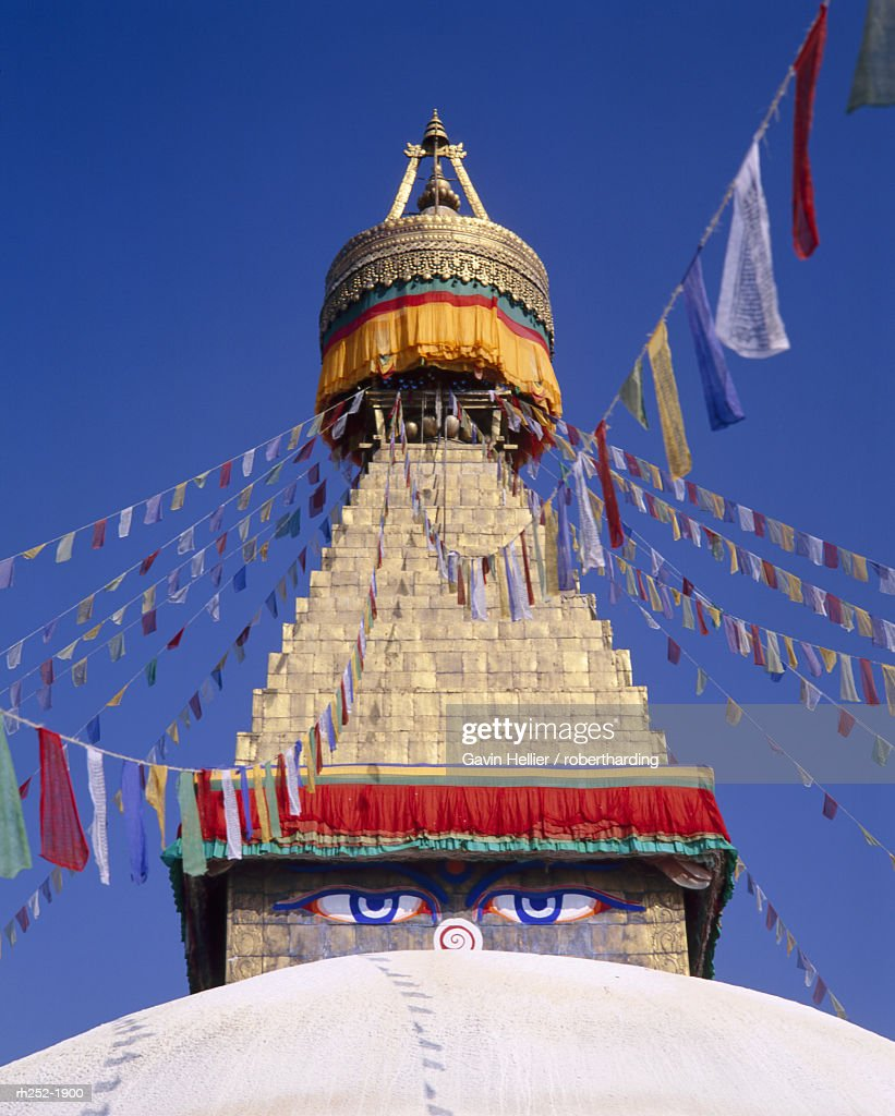Bodhnath Stupa, Kathmandu, Nepal, Asia : Foto de stock