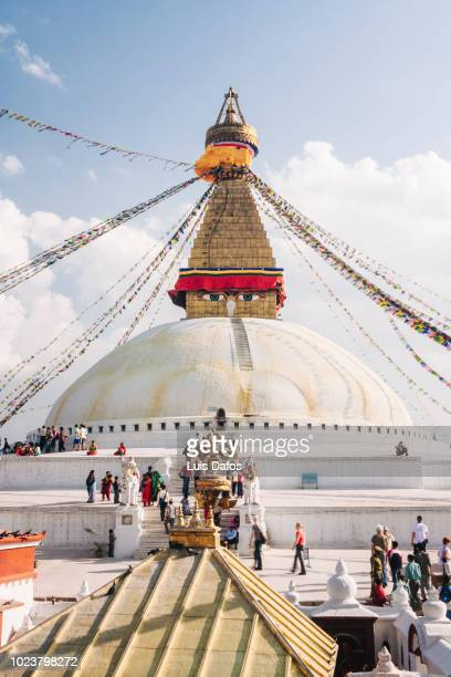 bodhnath stupa - stupa stock pictures, royalty-free photos & images