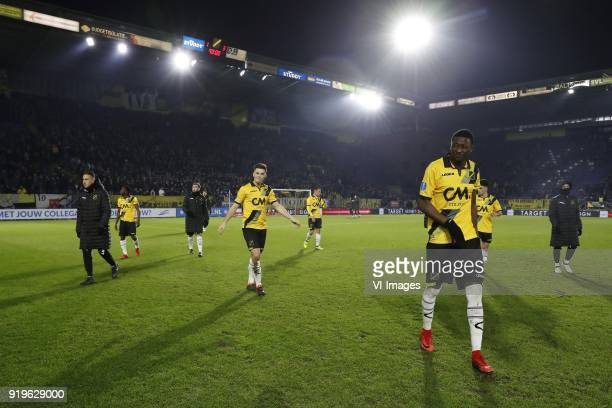 Bodi Brusselers of NAC Breda Thomas Agyepong of NAC Breda James Horsfield of NAC Breda Bart Meijers of NAC Breda Giovanni Korte of NAC Breda Sadiq...