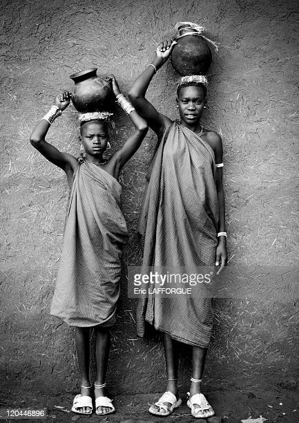 Bodi tribe woman bringing milk in Ethiopia on October 25 2008 The Me'en or Bodi people live around Omo River in south Ethiopia Originally they were...