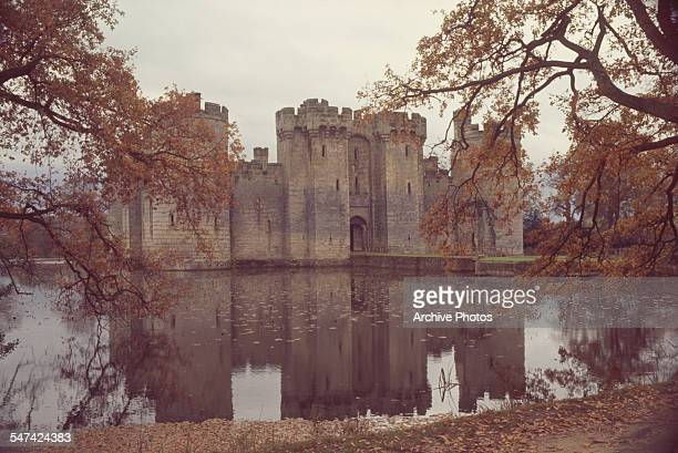 Bodiam Castle a moated castle in East Sussex England circa 1965