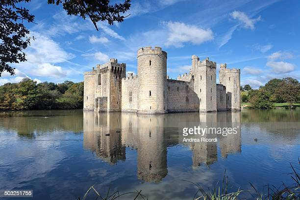 Bodiam Castle, East Sussex. One of England's most famous and picturesque castles.