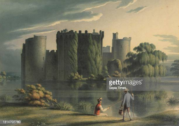Bodiam Castle, Henry Morton, ca. 1807–1825, British, undated, Watercolor and gouache on medium, slightly textured, cream wove paper, Sheet: 8 1/2 ×...