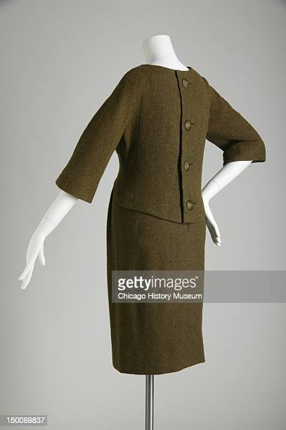 Bodice and skirt outfit 1956 Wool tweed by Pierre Cardin