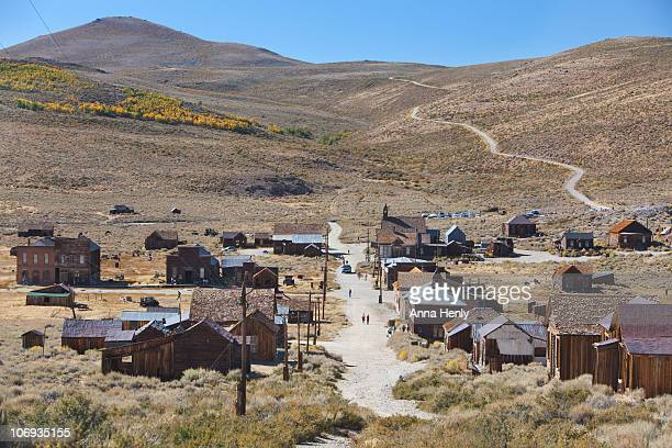 bodie, californian wild west, gold rush ghost town - california gold rush stock photos and pictures