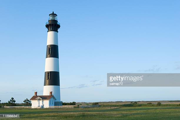 bodie island lighthouse, outer banks, nc, usa - outer banks stock pictures, royalty-free photos & images