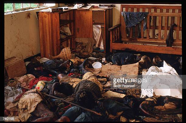Bodies and wreckage lie on the floor of a room May 5 1994 in Rukara Rwanda Hundreds of Tutsis were killed at the Rukara Catholic mission April 1994...