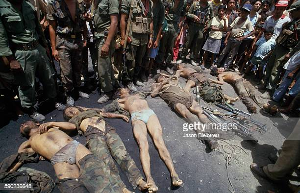 Bodies of Contras rebels killed in a Sandinista offensive | Location Quitali Nicaragua