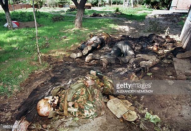 Bodies of Russian soldiers are seen in August 1996 in Grozny capital of the breakaway southern republic of Chechnya The situation in Chechnya...